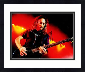 Kirk Hammett Signed - Autographed METALLICA Lead Guitarist 11x14 inch Photo - Guaranteed to pass BAS