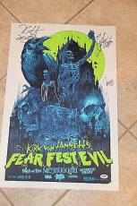 Kirk Hammett, Slash, John 5 Corey Taylor signed autographed Poster PSA AA00042