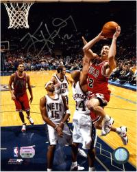 "Kirk Hinrich Chicago Bulls vs. New Jersey Nets Autographed 8"" x 10"" Photograph"