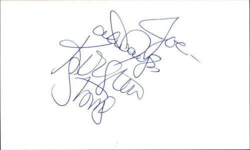 """KIRSTEN STORMS DAYS OF OUR LIVES Signed 3""""x5"""" Index Card"""
