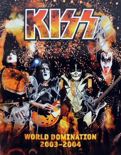 KISS (4) Simmons, Stanley, Thayer & Criss Signed 03-04 Tour Program JSA #Y86065