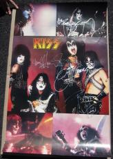 Kiss 4x signed 22x35 Poster PSA/DNA Original Group Simmons Stanley Frehley Criss