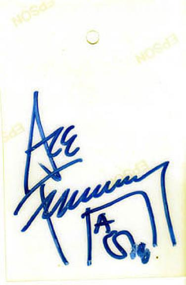 KISS Ace Frehley Autographed Signed Back Stage Pass JSA AFTAL