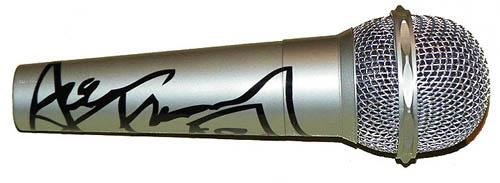 Kiss Ace Frehley Autographed Facsimile Signed Microphone
