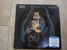 Kiss Ace Frehley Solo Signed Autographed Picture Disk LP Beckett Certified