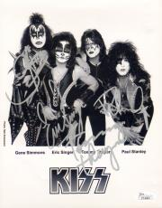 KISS Band GENE SIMMONS PAUL STANLEY +2 Signed Autographed 8x10 Photo JSA #Y74004