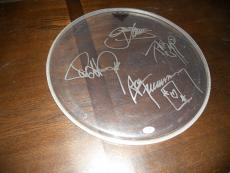 """Kiss Band Signed Autographed 16"""" Drumhead Drum Head PSA Certified x4 Originals"""