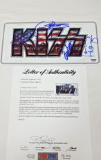 KISS BAND SIGNED LICENSE PLATE Gene Simmons Paul Stanley + more PSA/DNA AB08748