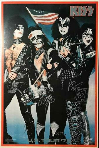 KISS Criss and Frehley Autographed Signed Poster Certified Authentic BAS COA