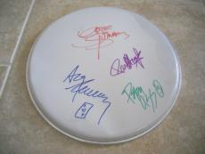 "Kiss Gene Peter Paul Ace All 4 Original Signed Autographed 12"" Drumhead"