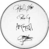 Kiss Gene Simmons Ace Frehley Paul Peter Autographed Facsimile Signed Clear Drumhead