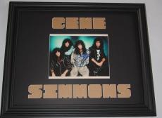 KISS Gene Simmons Autographed Signed Photo Custom Display