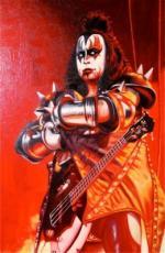 KISS Gene Simmons ORIGINAL 24 x 36 OIL CANVAS PAINTING