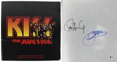 KISS Gene Simmons & Paul Stanley Signed 12.5x12.5 Auction Program BAS #D67974