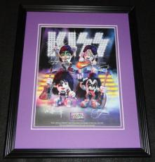 Kiss Group Facsimile Signed Framed 2009 M&M's Advertising Display