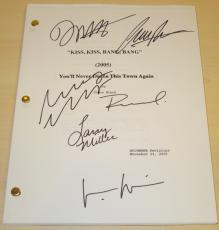 Kiss Kiss Bang Bang Autographed Full Script by Robert Downey Jr, Val Kilmer, Corbin Bernsen, Michelle Monaghan, Dash Mihok, and Larry Mille