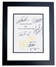 Kiss Kiss Bang Bang Autographed Script Cover by Robert Downey Jr, Val Kilmer, Ariel Winter, Michelle Monaghan, Dash Mihok, and Corbin Bernsen BLACK CUSTOM FRAME