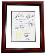 Kiss Kiss Bang Bang Autographed Script Cover by Robert Downey Jr, Val Kilmer, Ariel Winter, Michelle Monaghan, Dash Mihok, and Corbin Bernsen MAHOGANY CUSTOM FRAME