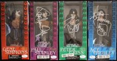 KISS McFarlane Bust set signed by ALL 4 -SIMMONS/STANLEY/CRISS/FREHLEY-JSA Auth