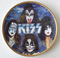 KISS Multi Signed L/E Artist Proof Plate Stanley Simmons Criss Frehley (PSA/DNA)