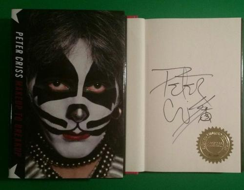 "Kiss Peter Criss Limited Edition Signed And Numbered Book ""makeup To Breakup"