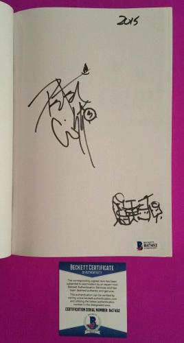 "Kiss Peter Criss Signed Book ""makeup To Breakup"" With Drum Set Sketch & Bas Coa"