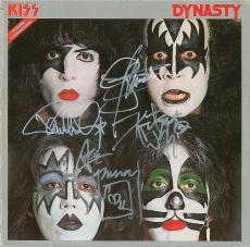 KISS Signed Album, Gene Simmons, Ace Frehley, Peter Criss & Paul Stanley. Psa!!