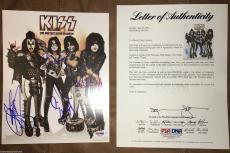 KISS signed Hottest Show Tour 8x10 Meet & greet photo by all 4 PSA DNA COA LOA