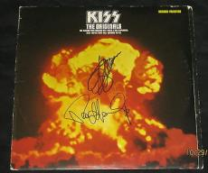 Kiss The Originals Signed Lp Record Album, Paul Stanly & Gene Simmons