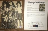 KISS vintage signed magazine page by ALL 4 Gene Ace Peter Paul PSA DNA COA LOA