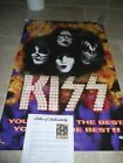 Kiss You Wanted The Best Auto'd Signed 36x24  Poster PSA Certified x4 Originals