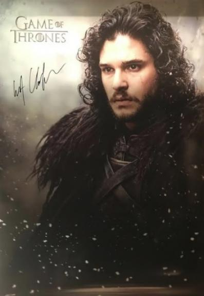 Kit Harington Autographed Game of Thrones 24×36 Poster