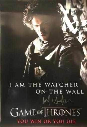 Kit Harington Autographed Game of Thrones 24×36 Poster - You Win Or You Die