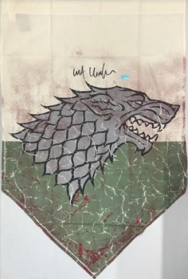 Kit Harington Autographed Game of Thrones 28x42 Banner Battle Worn Battle of the Bastards