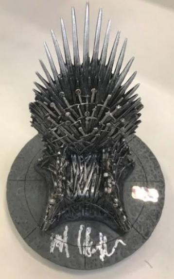 "Kit Harington Autographed Game of Thrones Iron Throne 7"" Replica"