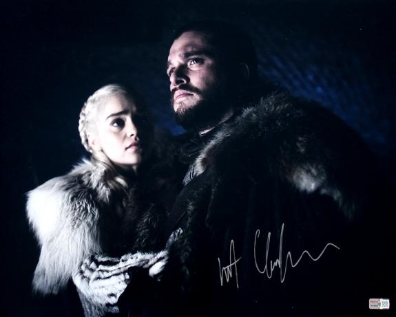 Kit Harington Autographed 'Game of Thrones' Jon Snow with Daenerys 16x20 Photo