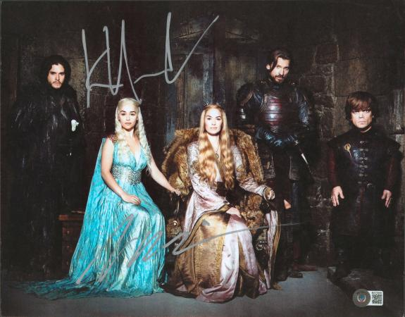Kit Harington & Peter Dinklage Game of Thrones Signed 11x14 Photo BAS #BA75440