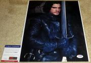 Kit Harington Signed 11x14 Game of Thrones Jon Snow The Night's Watch PSA/DNA