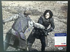 Kit Harington Signed 11x14 Photo Psa Dna Coa Game Of Thrones Autograph