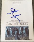 Kit Harington Signed Autograph Game Of Thrones Battle Bastards Ep Script Beckett
