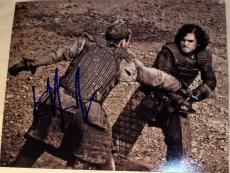 "Kit Harington Signed Autograph ""game Of Thrones"" Full Action Battle Photo Coa"