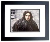 Kit Harington Signed - Autographed Game of Thrones actor - Jon Snow 11x14 inch Photo BLACK CUSTOM FRAME - Guaranteed to pass PSA/DNA or JSA