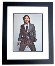 Kit Harington Signed - Autographed Game of Thrones Actor - Jon Snow 8x10 inch Photo BLACK CUSTOM FRAME - Guaranteed to pass PSA or JSA - Kit Harrington
