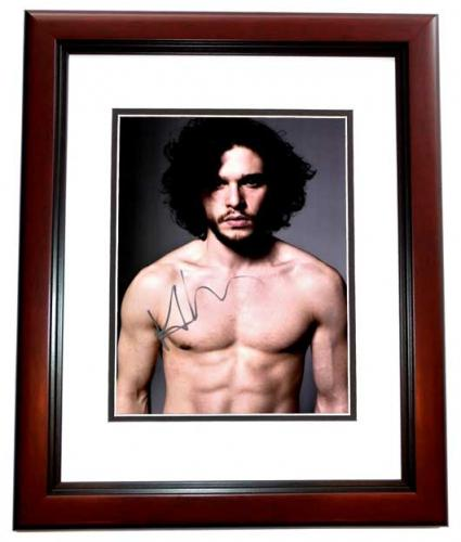 Kit Harington Signed - Autographed Game of Thrones - Jon Snow 10x15 inch Photo MAHOGANY CUSTOM FRAME - Guaranteed to pass PSA or JSA - Kit Harrington
