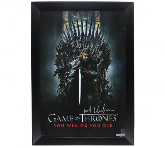 Kit Harington Signed Game of Thrones Ned Stark Framed Poster