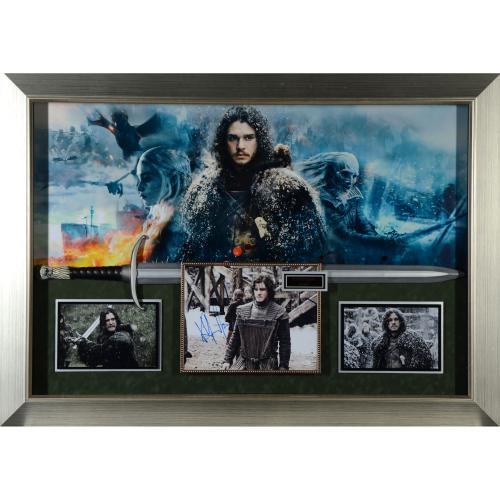 "Kit Harington Framed Autographed 53"" x 37"" Jon Snow Game of Thrones Collage - JSA"