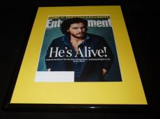 Kit Harrington Framed ORIGINAL 2016 Entertainment Weekly Cover Game of Thrones