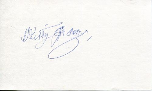 "Kitty Gordon Silent Movie Actress ""forget-me-not"" ""adele"" Signed Card Autograph"