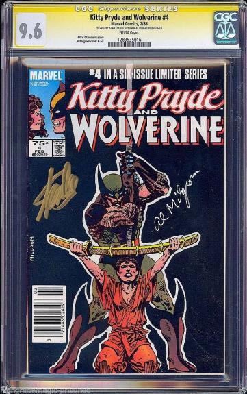 KITTY PRYDE & WOLVERINE #4 CGC 9.6 WHITE SS 2 X's STAN LEE AL MIGRON #1283535016