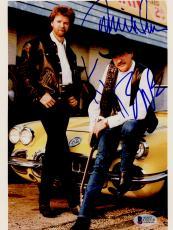 """Kix Brooks & Ronnie Dunn Autographed 8""""x 10"""" Brooks & Dunn Car Photograph - BAS COA"""